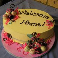 Welcome_Home.jpg  this was a last minute order (2 days notice)....WASC filled with mixed berries and belgium cream, frosted and decorated with cake balls and...