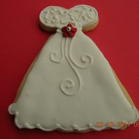 Wedding Dress Wedding dress cookies for a bridal shower.