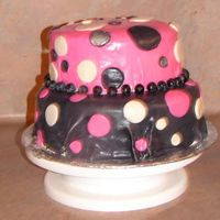 Second Fondant Cake I made this cake for one of my friend's birthdays. It is my second fondant covered cake. Let me know what ya think!