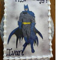 Batman Here's a cake I made for a friends son. Batman is a fbct