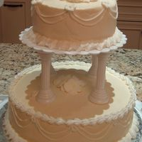 My First Wedding Cake Buttercream frosting in Ivory Buttercream Icing in pure white