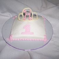 "Princess Smash Cake 6"" smash cake to go with Princess Pillow cake. Candy melt tiara."