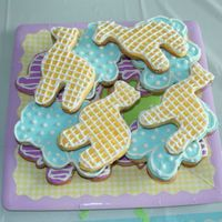 Baby Shower Cookies Sugar cookies decorated with royal icing