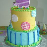 Baby Shower Baby Shower cake done in buttercream...cookie on top decorated with royal icing