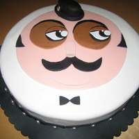 Hercule Poirot I made this cake of Agatha Christie's famed character, Hercule Poirot, for a murder mystery birthday party. The face design came from...