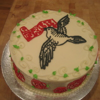 Free Bird Divorce Cake Done to celebrate a co-workers divorce from her husband...finally!!