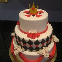 Queen Of Hearts Cake Made this for Great American Cake show and got 3rd place. All fondant decorations