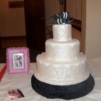 Movie Theme Contest Cake This is a dummy cake made for a local cake decorating contest. Used a black and white theme based on the Ascot horse racing scene from My...