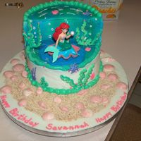 Savannah's Birthday Cake My granddaughter wanted an Ariel cake for her birthday. Her mom looked on the internet and e-mailed me a picture of this cake from www....