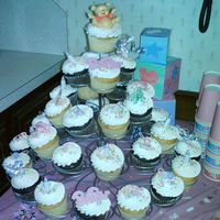 Baby Shower Cupcakes Baby Shower for my best friend. This is the Wilton Cupcake Tree.