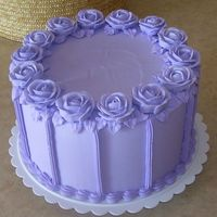 Purple Roses Display cake made for Wilton course 1. Remember this one from your course 1 book? I thought it would look good in purple.