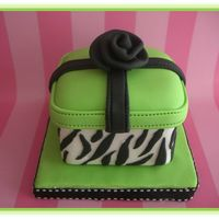 Mini Zebra Cake   Chocolate mini cake. Measures 2.5 x 2.5 inches. I just loved to make this mini cake.