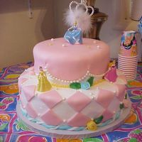 Princess Cake Fondant and ButterCream icing with dragees.