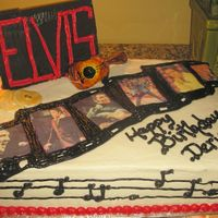 Elvis, Still The King  So excited to do this cake! I love Elvis and living in Memphis, I just don't get any requests for them. This was made for an Elvis...