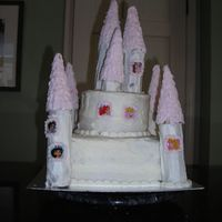 Castle Cake First atttempt at a castle cake for my daughter's birthday. Did not like the frosting I used.