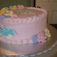 Birthday Cake Birthday cake for my sister using flowers left over from Wilton course.