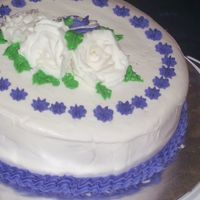 Course 1 Final Cake I wanted to be different so I opted for purple and white.
