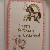 Pony Cake Made to match a design on the birthday girl's dress.