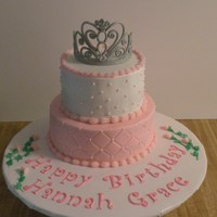 Princess Cake   Strawberry and lemon tiers, gumpaste tiara
