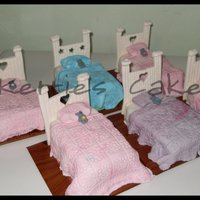Beds   for a sleep over party. all from fondant