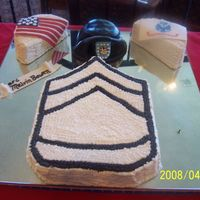 Sfc Army Retirement   USA and Army Flags are Gumpaste, Army Beret is Rice Krispies covered with mmf/gumpaste.