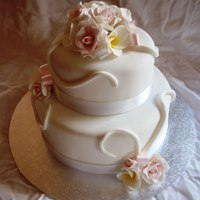 Frangi And Rose Wedding Cake