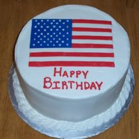 Independence Birthday Fondant flag and Buttercream icing.