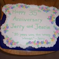 Cupcake Anniversary Cake Very easy cake. I don't really understand the quote but that's what my cousin ordered. Its from a song that my uncle sings all...