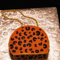 Leopard Print Purse Last minute request, first purse cake. Everything is buttercream.