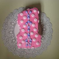 1St Birthday Cake Cake I made for a friend's daughter for her 1st birthday...It's just her little smash cake.