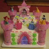 Disney Princess Castle Cake I made this cake for my daughter's 4th birthday party. I was really happy with the way it turned out. I ordered the kit off of ebay...