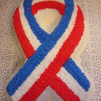 Patriotic Ribbon Cake This is a cake I made when my friend's boyfriend came home from Iraq.