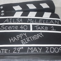 Clapperboard Lots and lots of pre coloured black fondant!