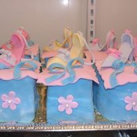 Mini High Heel Shoe Cakes These are Chocolate Mini cakes.The shoe is made of FOndant