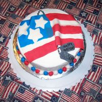 My Soldier's Bday Cake I got the idea for this cake from this site. It was for my DHs birthday. He is in the Army