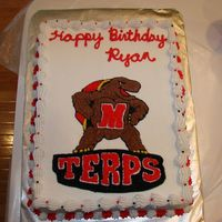 Maryland Terps Birthday Cake
