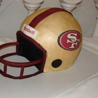 San Francisco 49Ers Groom Cake This was a 49ers helmet groom's cake that I made for my brother-in-law's wedding.