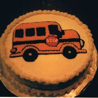 Bus Cake I made this cake for my son's 1st day of preschool.