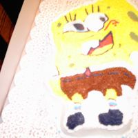Sponge Bob Birthday cake for a little boy at my church. This cake was lots of fun to do with the different colors