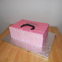 Victoria's Secret Strawberry cake with pink fondant