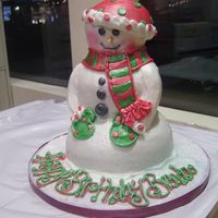 Snowman Snowman, all buttercream decoration :)