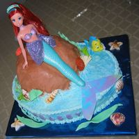 Little Mermaid  Made this for my 5 year old cousin who LOVES Ariel... I got the inspiration from here- thanks to everyone... Since I had to make 2 cakes...