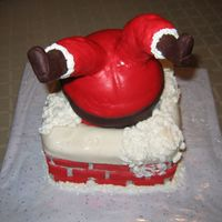 Chimney Santa Thanks to all the inspiration here on CC - I had so much fun making this cake and the kids just loved it !