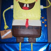 Spongebob Squarepants Thanks to Wendybanks for this idea... I made this cake today for a party tomorrow, and it just got cancelled !!! I guess it goes to work on...