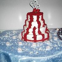 Wedding Cake All butter cream frosting. top to bottom: white cakered velvetbutter yellowchocolate