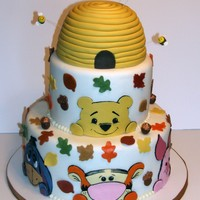 Winnie & Friends Fall Themed Cake