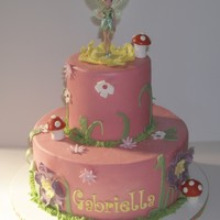 Tinkerbell Cake Tinkerbell cake all edible except for store bought topper.