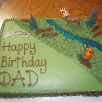 Hunters Bday Cake   Cake I made for an outdoorsman