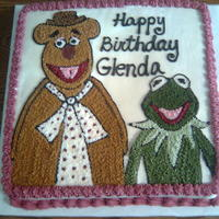 Kermit And Fozzie Bear Bday   Fave Muppets characters of bday girl