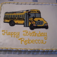 School Bus Cake   Birthday cake I made for a bus driver